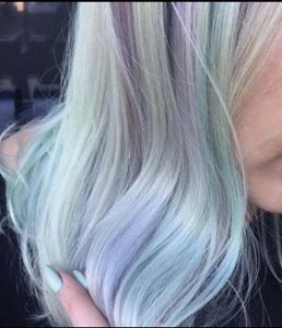 girl with pastel hair colour