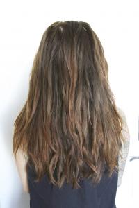 hair treated with olaplex