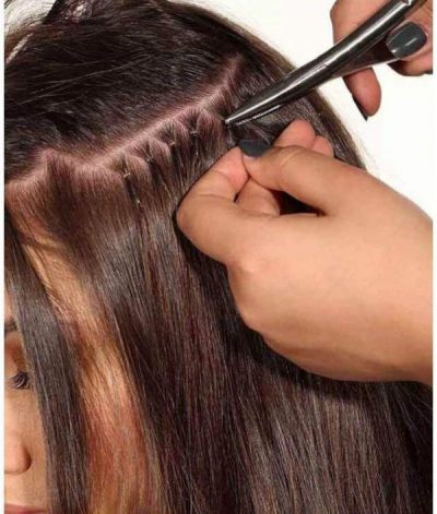 nano tip hair extension fitting