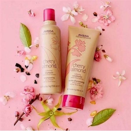 cherry almond shampoon and conditioner from Aveda