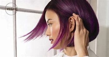 violet hair colour aveda