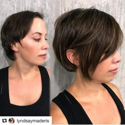 picture of client who is regrowing hair after chemotherapy