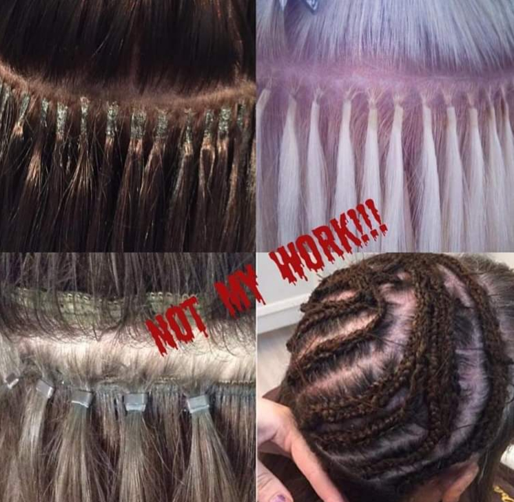 badly-fitted hair extensions