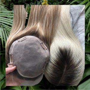 Hair topper with base